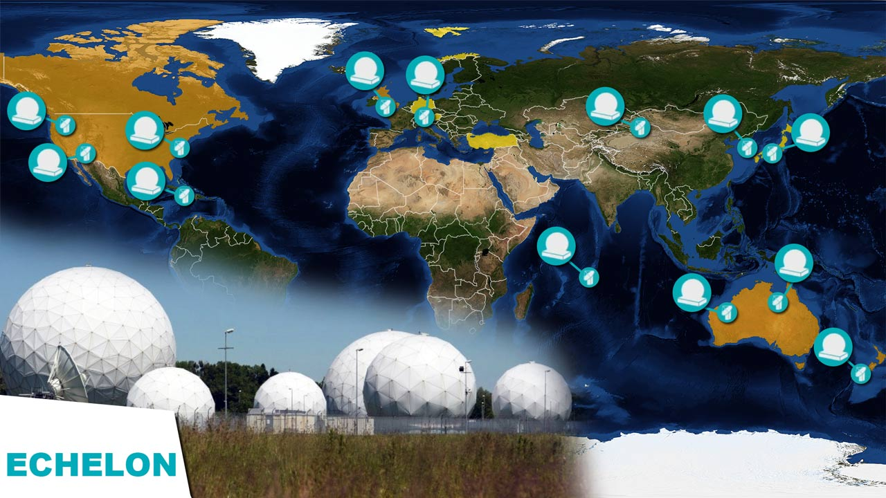 Echelon espionage network antennas radomes