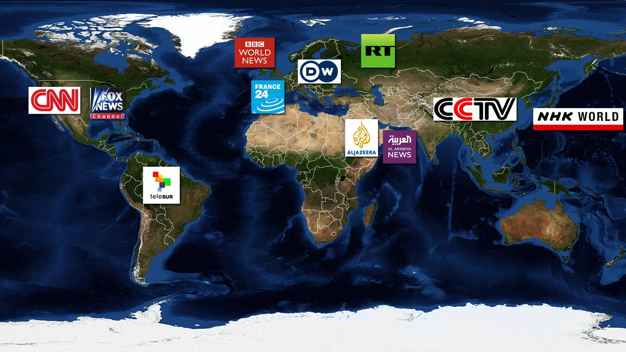 largest news networks world map