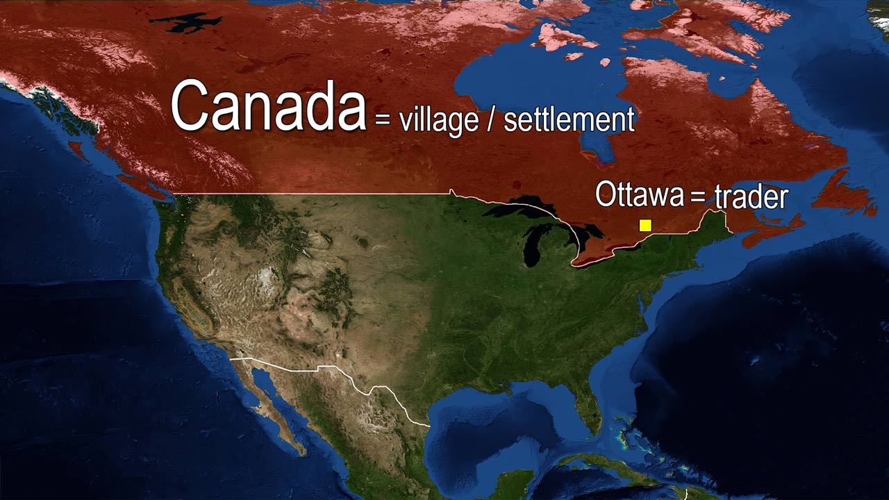 name meaning Canada Ottawa