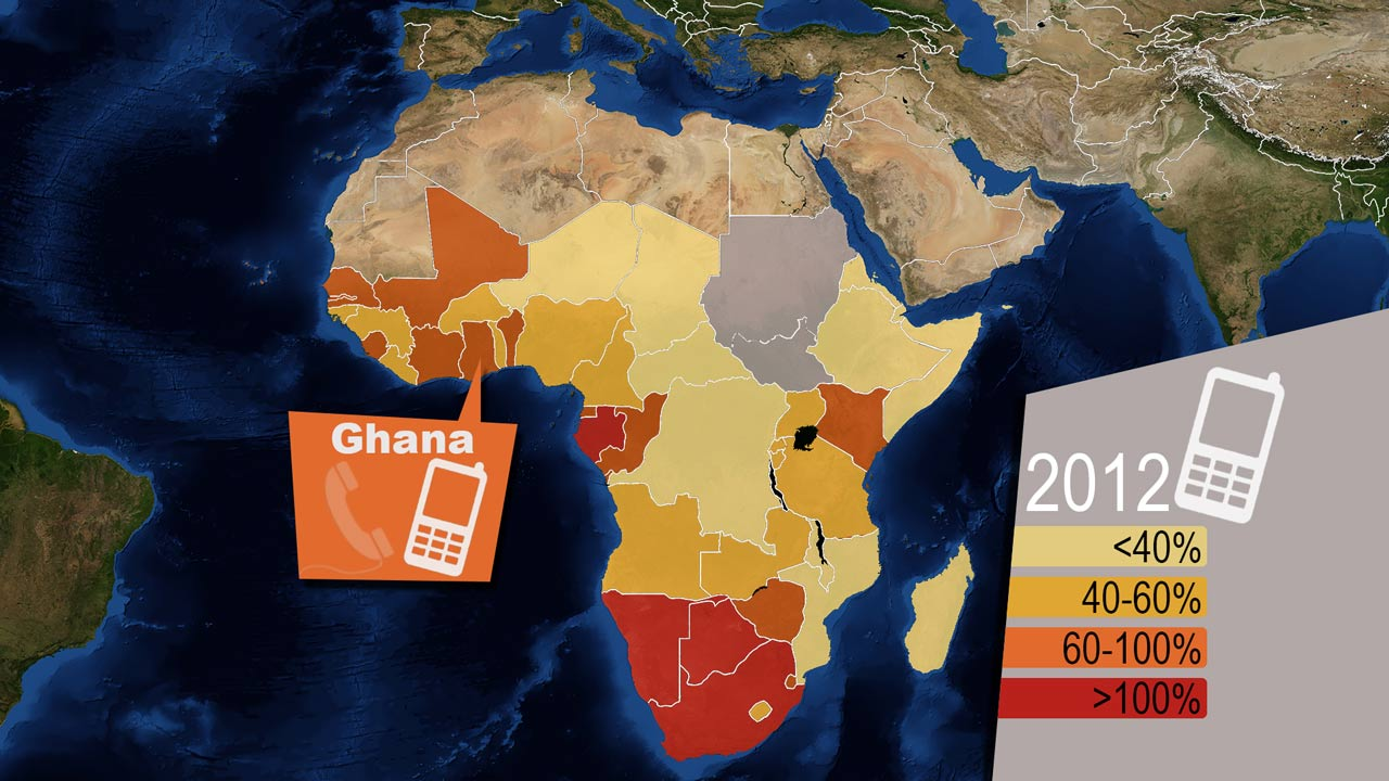 Africa mobile market cell phones map